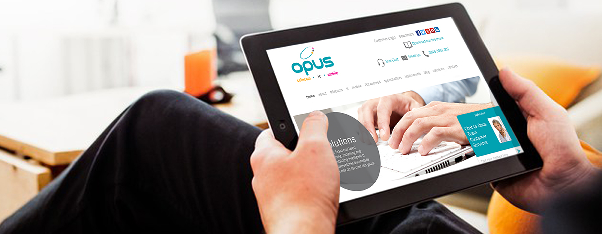 Opusteam responsive website
