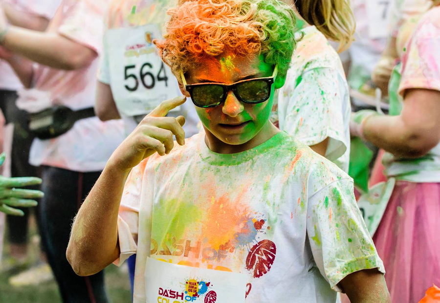 Adding a dash of colour for charity